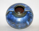 Fulper Vase with Blue Crystalline Glaze image 10