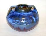 Fulper Vase with Blue Crystalline Glaze image 2