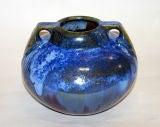 Fulper Vase with Blue Crystalline Glaze image 3