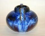 Fulper Vase with Blue Crystalline Glaze image 4