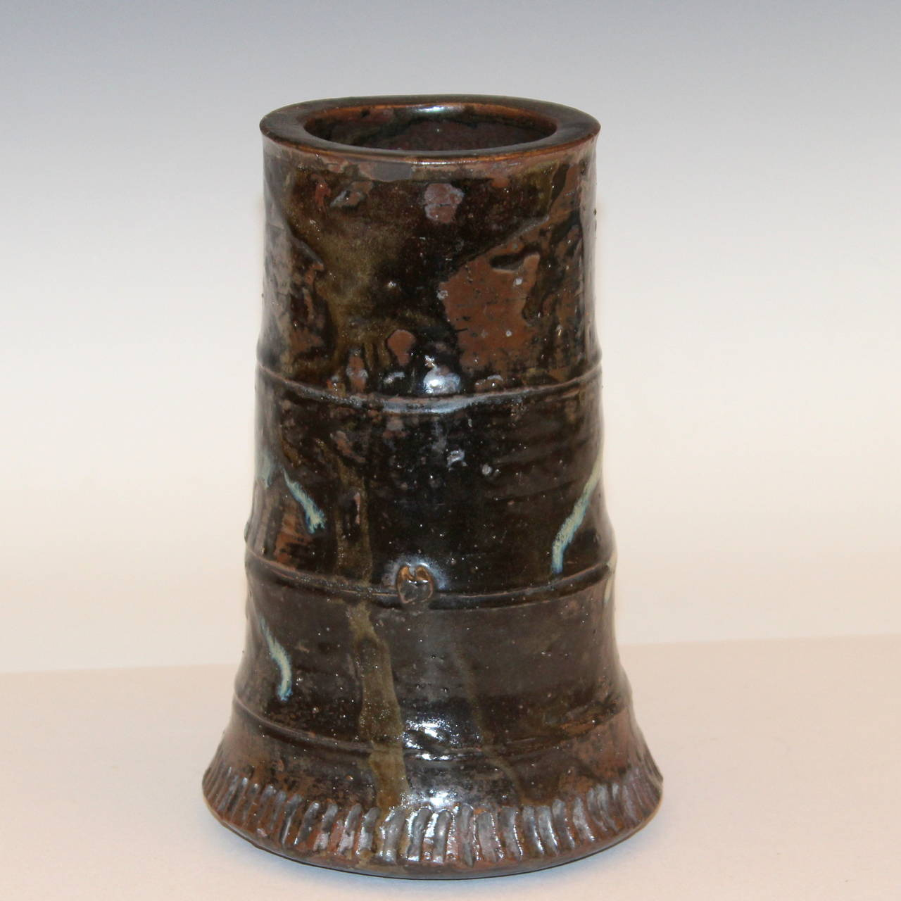 Antique Japanese Studio Pottery Tea Ceremony Ikebana Vase For Sale At 1stdibs