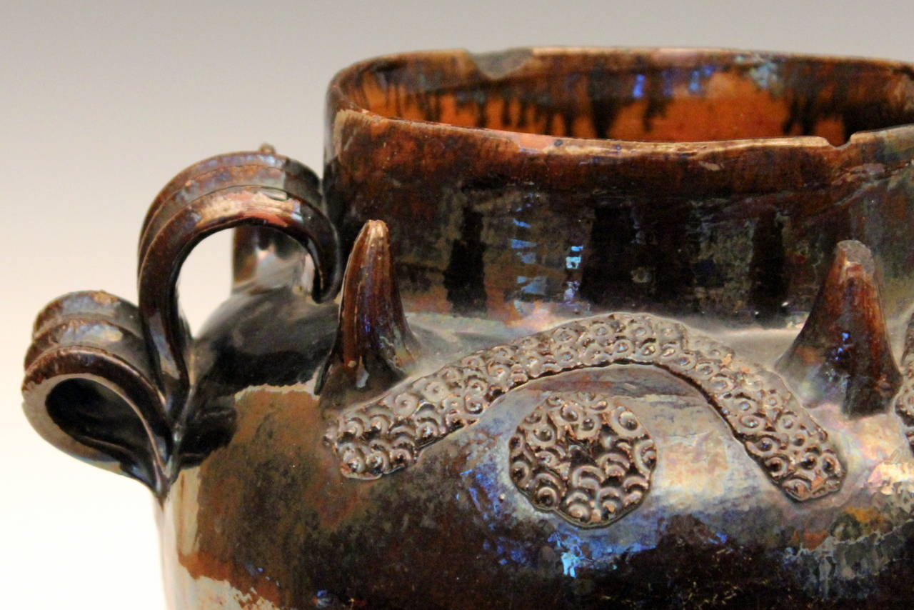 Antique Mexican Spanish Colonial Pottery Redware Pulque