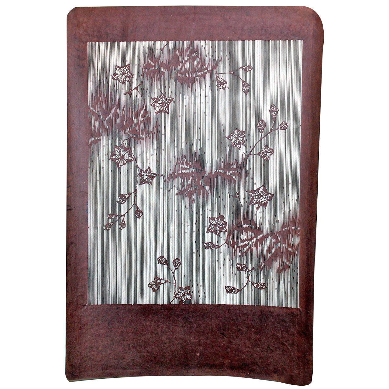 d4ea80ea4 Antique Japanese Kimono Fabric Stencil Katagami For Sale at 1stdibs