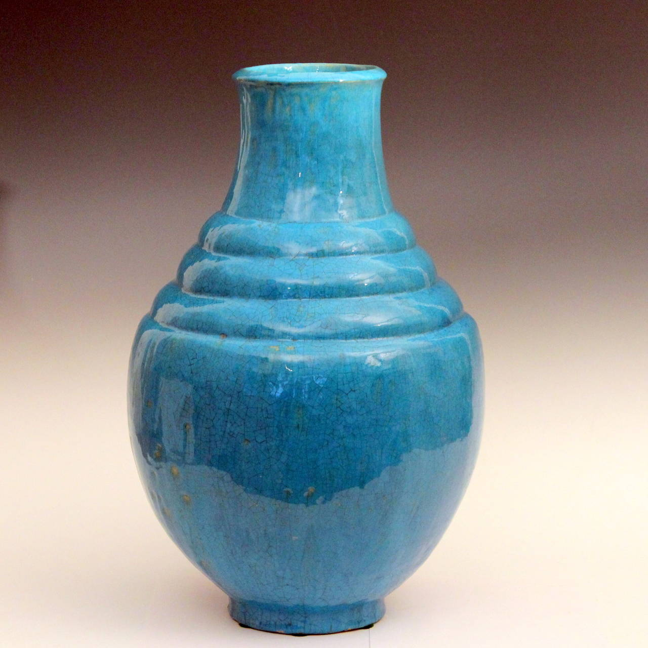 Exceptional mary yancey turquoise art deco studio pottery vase for american exceptional mary yancey turquoise art deco studio pottery vase for sale reviewsmspy