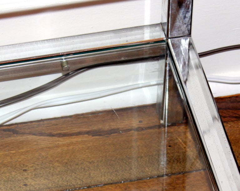 Milo Baughman Chrome and Glass Shelf Etagere image 6