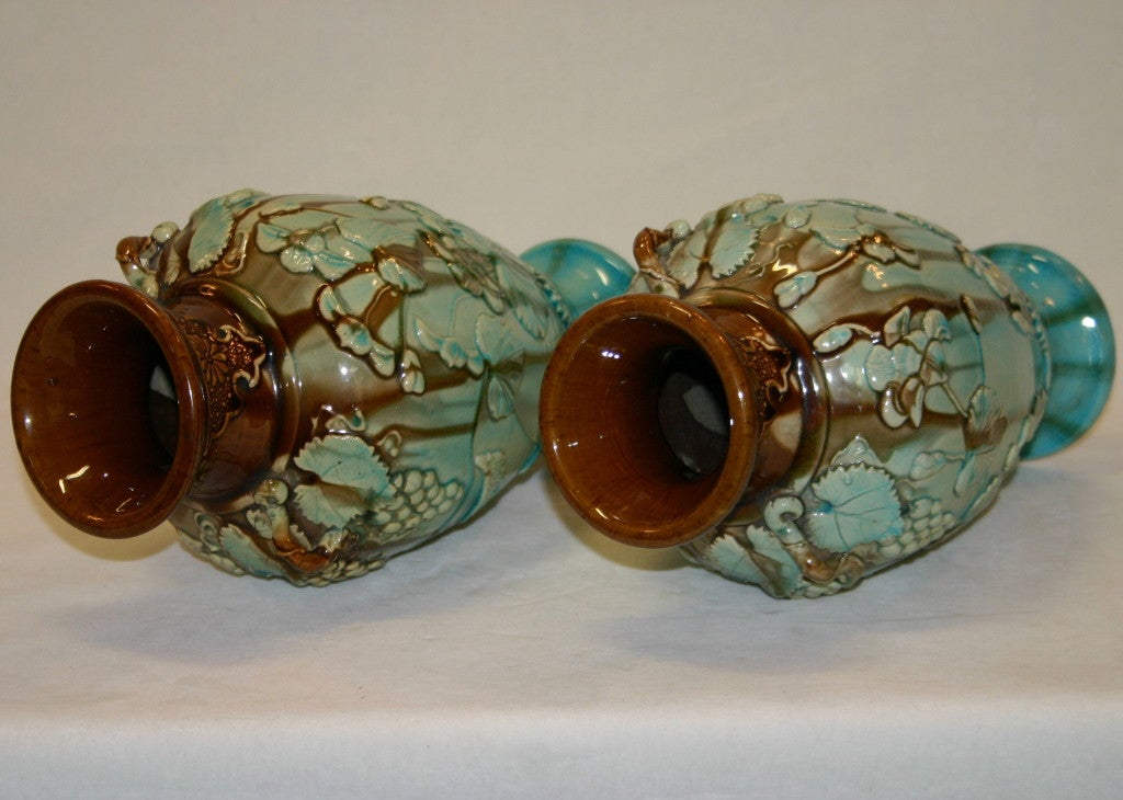 Pair Antique Kyoto Vases image 3