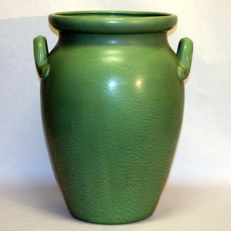 Huge Stangl Vase Rutile Green Glaze 2