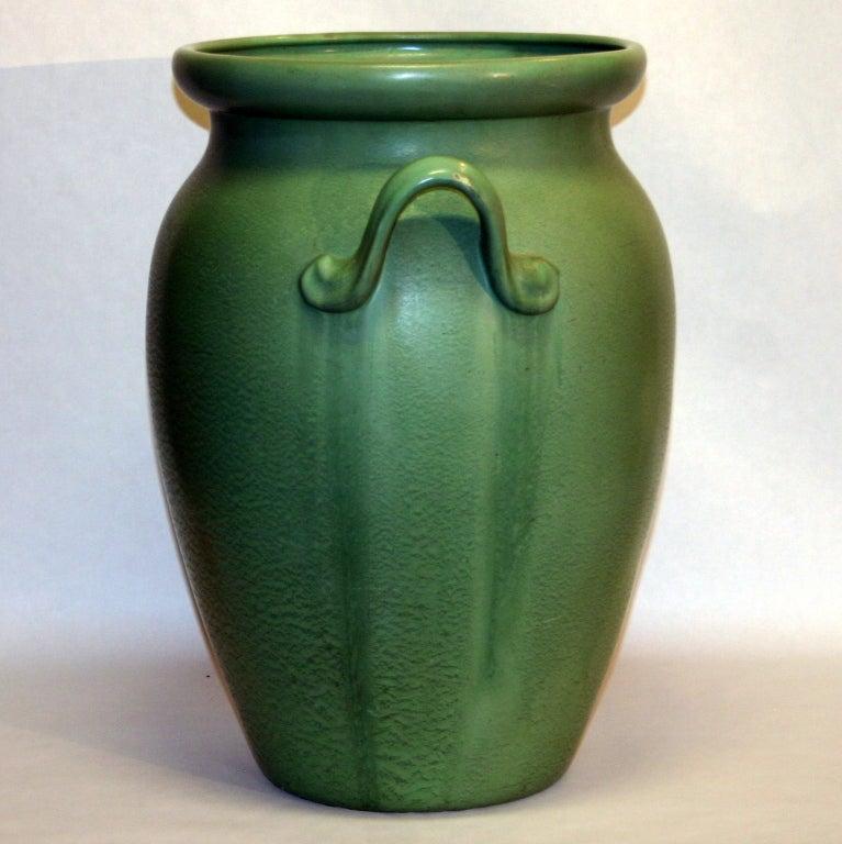 Huge Stangl Vase Rutile Green Glaze 4