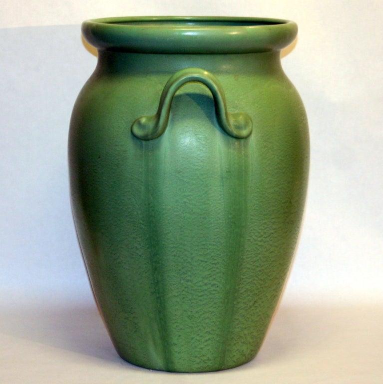 Huge Stangl Vase Rutile Green Glaze 5