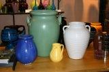 Huge Stangl Vase Rutile Green Glaze image 9