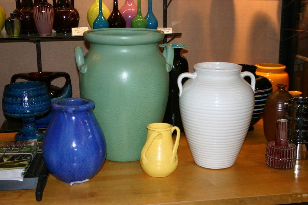 Huge Stangl Vase Rutile Green Glaze 9