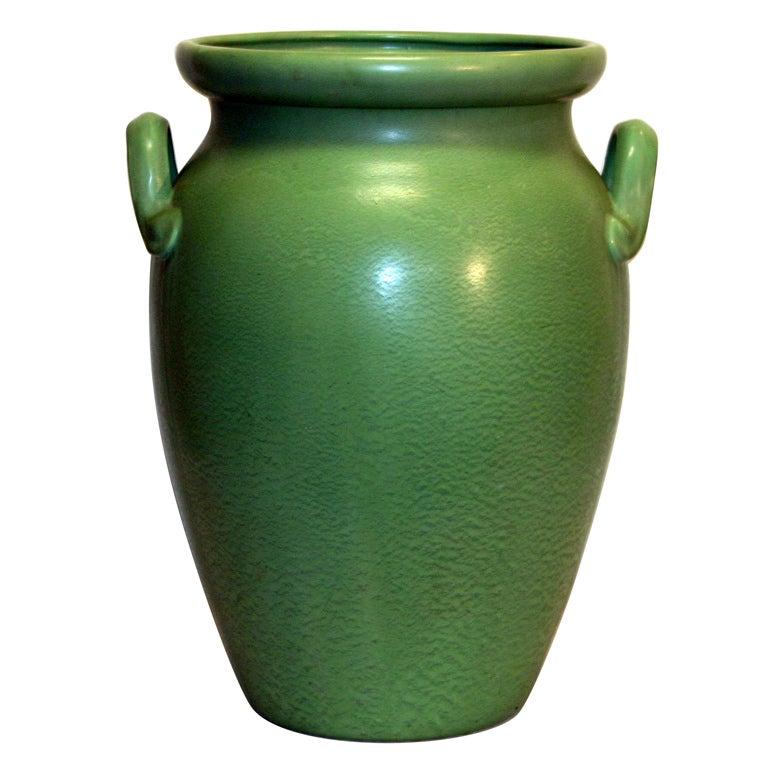 Huge Stangl Vase Rutile Green Glaze