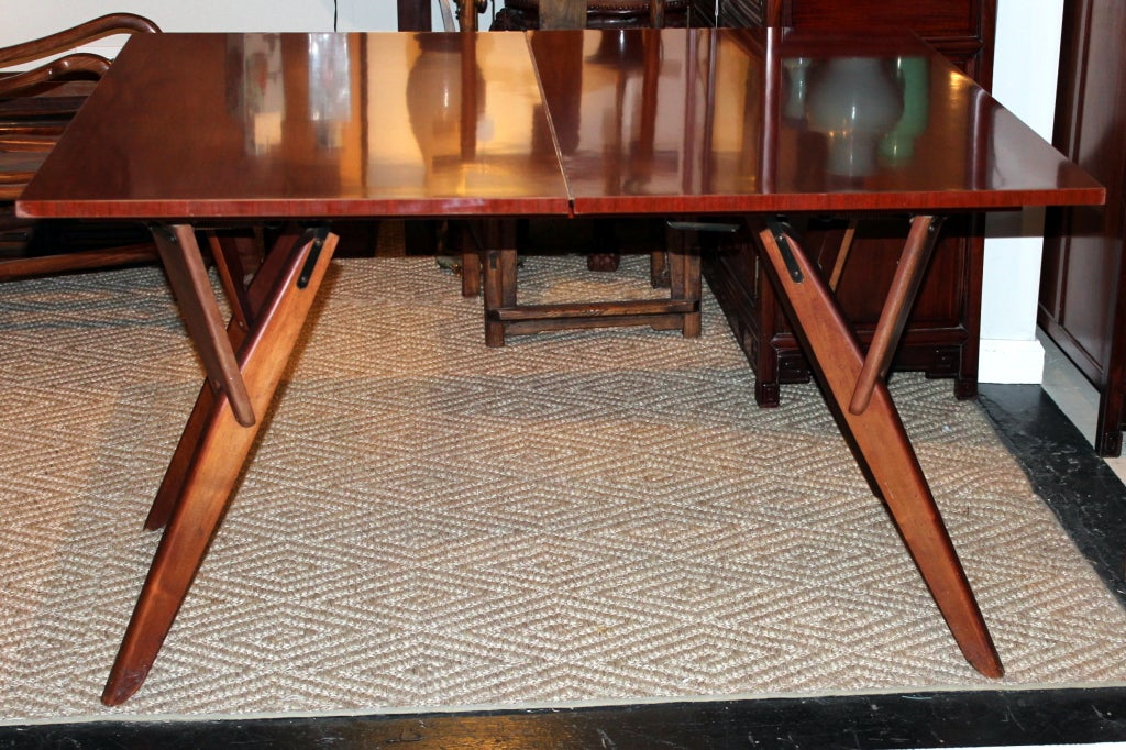 Mid Century Convertible Cocktail Console Dining Table At 1stdibs