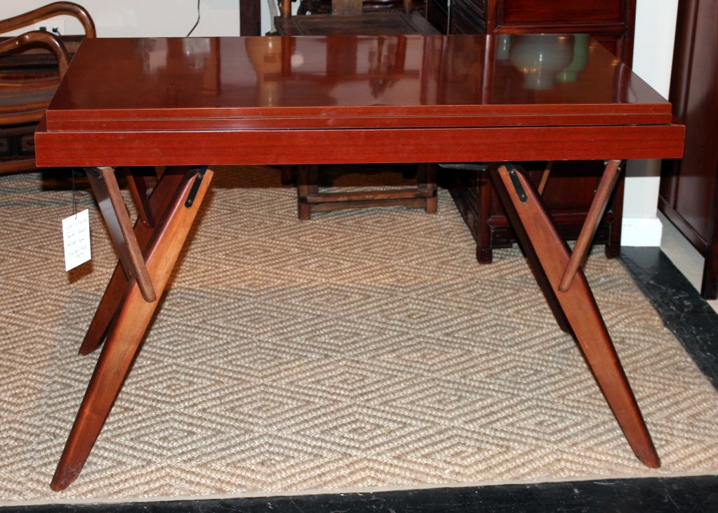mid century convertible cocktail console dining table at 1stdibs. Black Bedroom Furniture Sets. Home Design Ideas