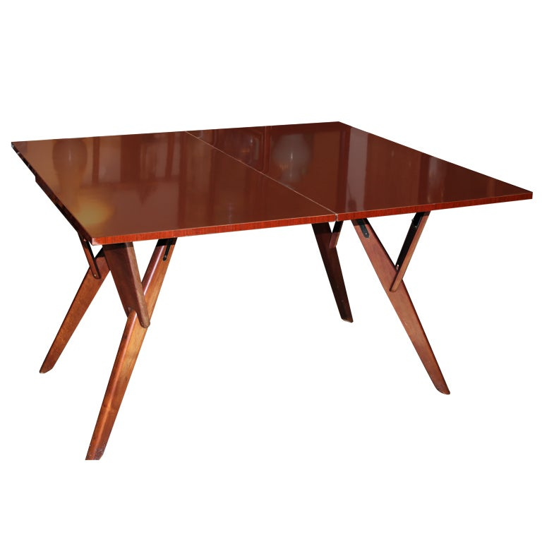 Mid century convertible cocktail console dining table at 1stdibs - Console table converts to dining table ...