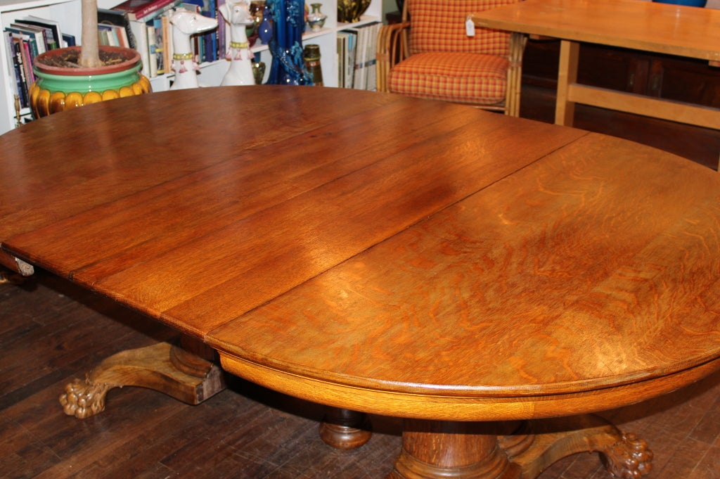 antique oak oval dining table. large antique oak pedestal dining table 3 oval l