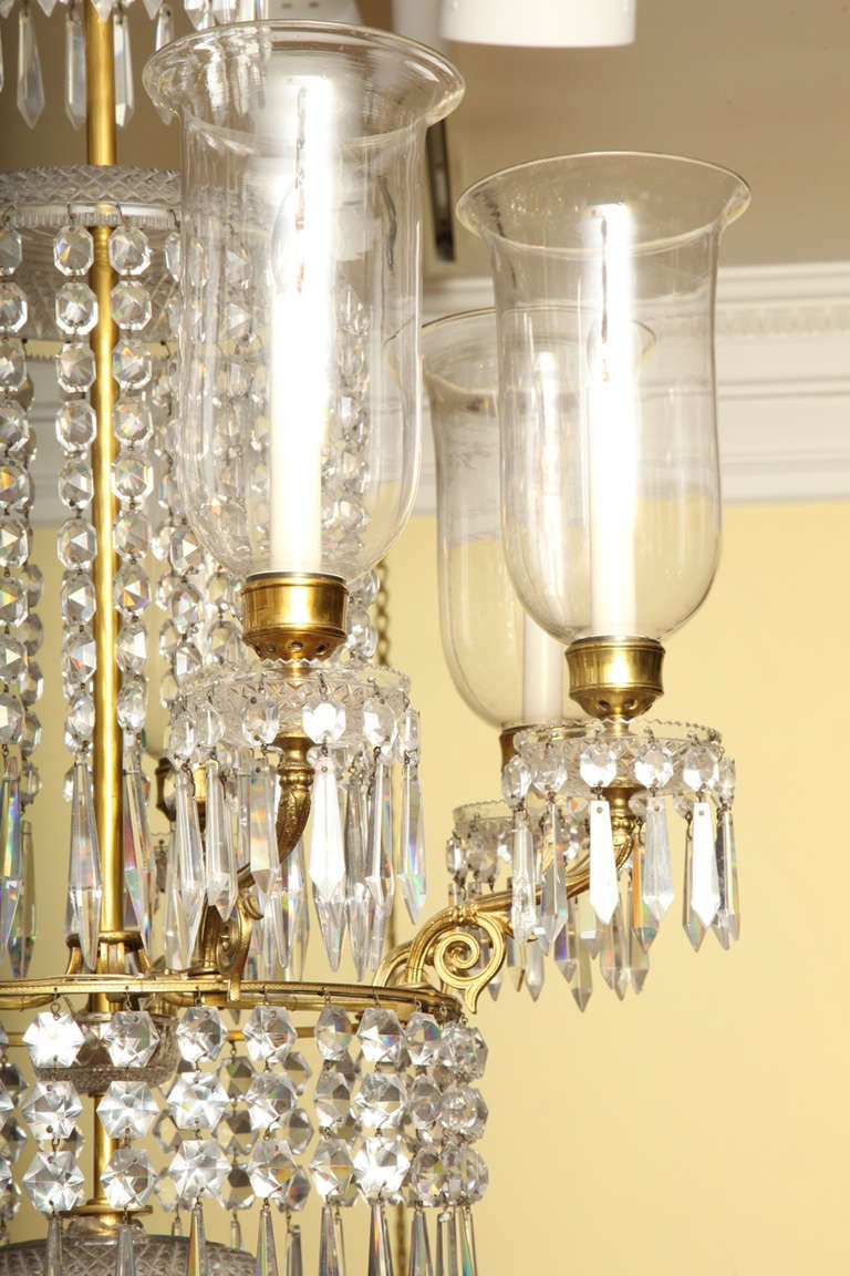 Regency antique ormolu and cut glass chandelier english circa 1820 regency antique ormolu and cut glass chandelier english circa 1820 for sale at 1stdibs arubaitofo Image collections