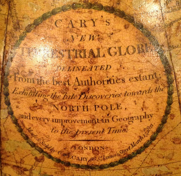 Antique Pair of Cary's Table Globes, circa 1800 and 1816 For Sale 3