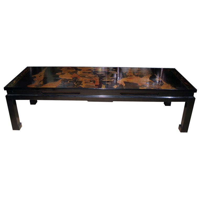 18th Century Chinese Black Lacquer Panel Coffee Table Circa 1750 For Sale At 1stdibs
