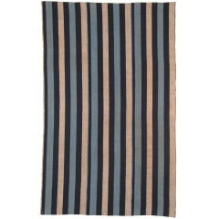 Early 20th century Japanese cotton striped futon cover with bold stripes.