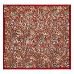 An 18th century Turkish red wool square