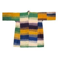 Dress of silk ikat from Uzbekistan