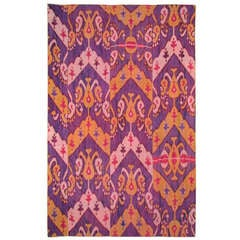 Early 20th Century Silk Ikat Panel, Uzbekistan