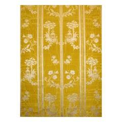 English (Spitalfields) yellow watered silk
