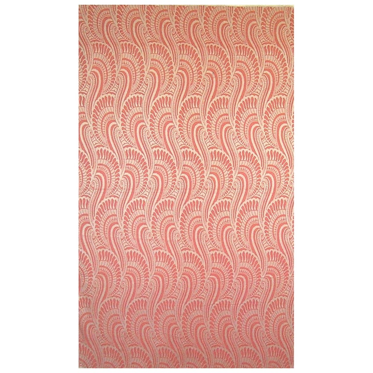 English Art Deco panel woven in silk and cotton For Sale ...