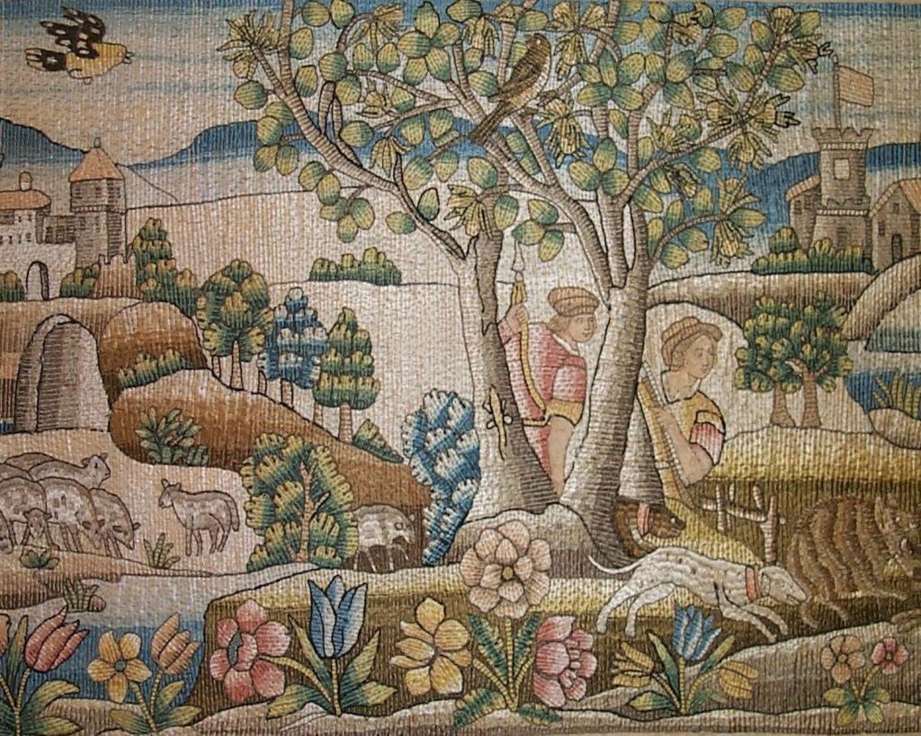 17th Century Italian Or French Needlework Valance At 1stdibs