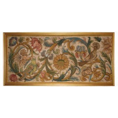 Late 17th Century Italian Silk Floss Laid Work Panel
