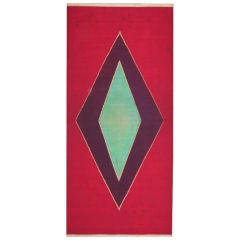 A late 19th century Indonesian ceremonial scarf, resist dyed.