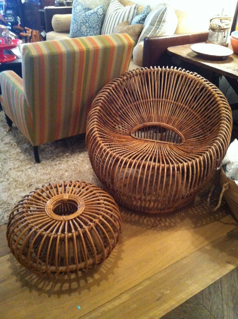 Mid Century Italian Modern Albini Lounge Chair & Ottoman image 2