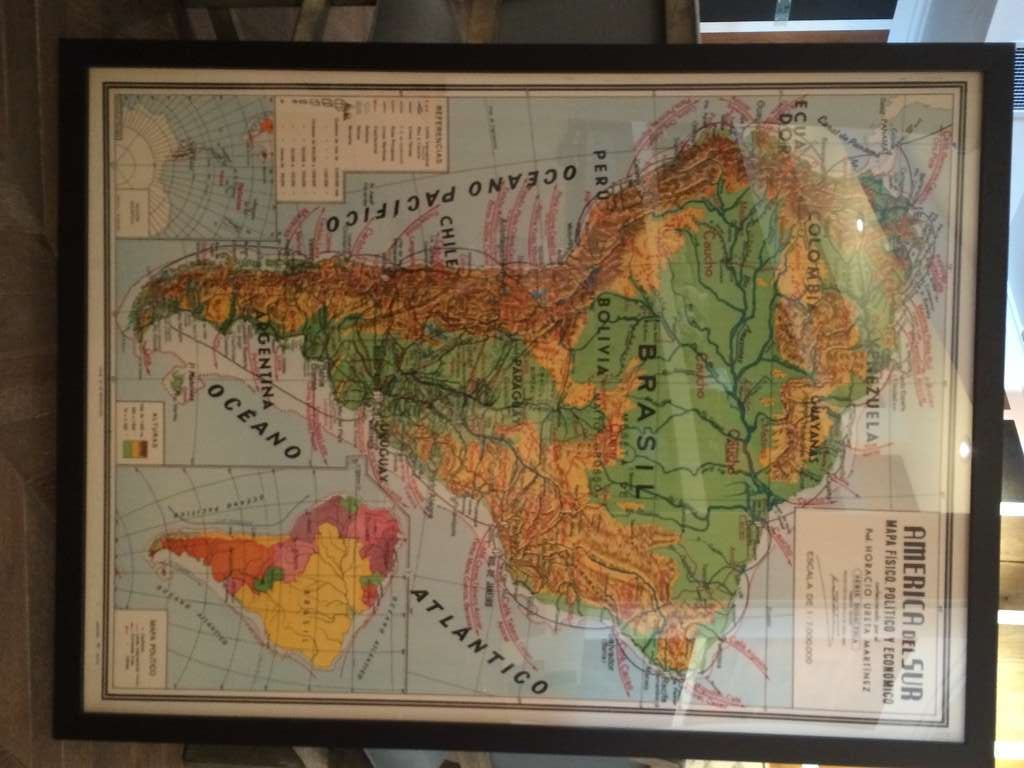 America Del Sur Map at 1stdibs