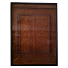 Framed Faux Bois Finish Sample