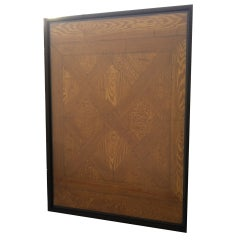 Framed Faux Bois Sample