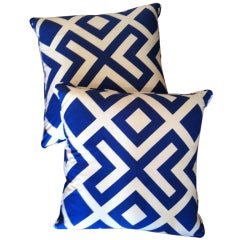 Indian Cotton Printed Pillow with Piping
