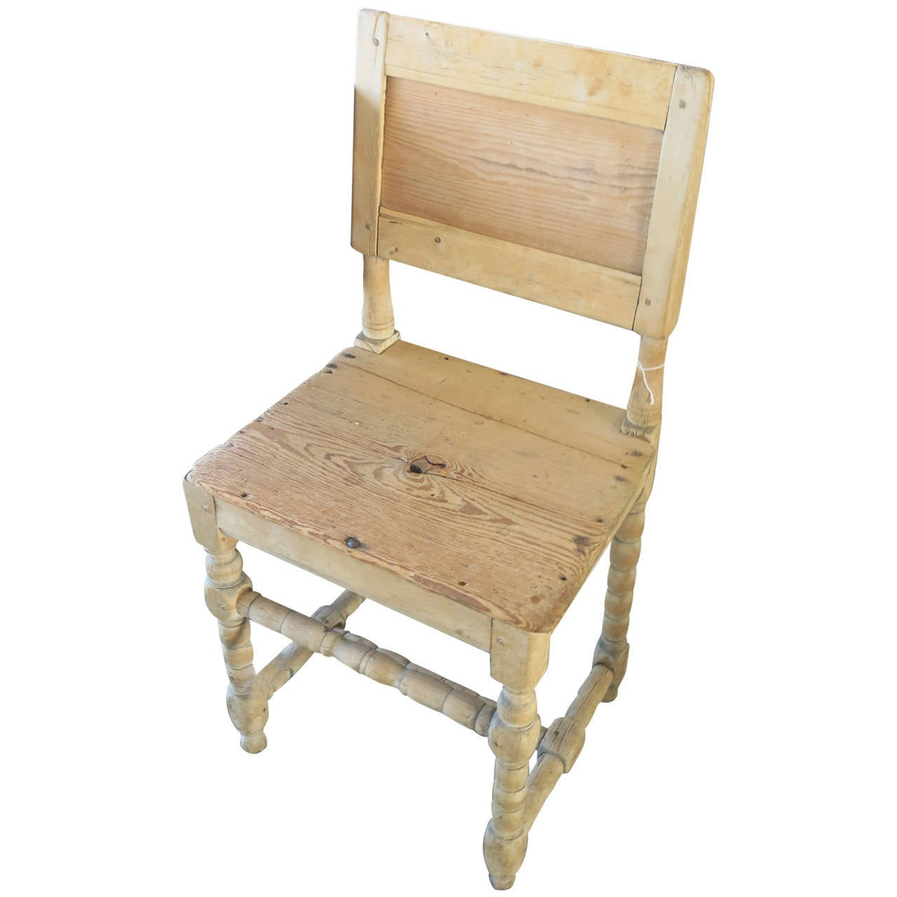 Wood side chair at stdibs