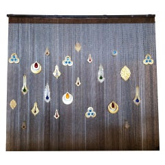 Wall Curtain with Colored Glass