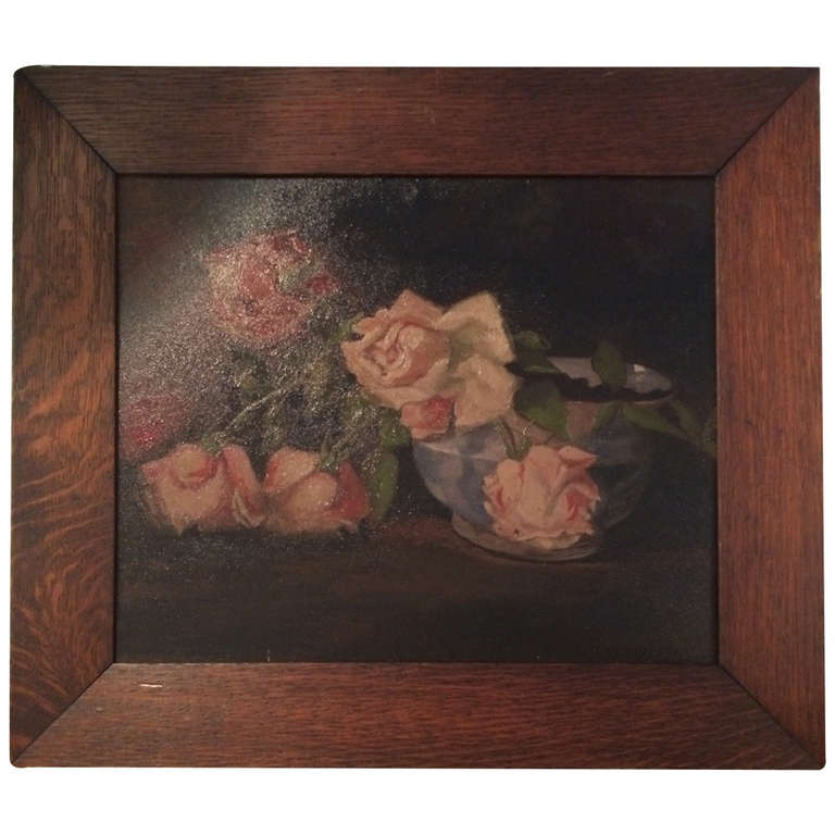 Vintage Oil Painting with Original Frame