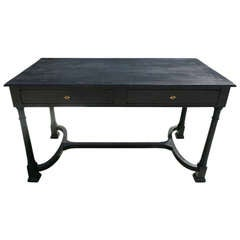 Black Writing Desk with Two Drawers