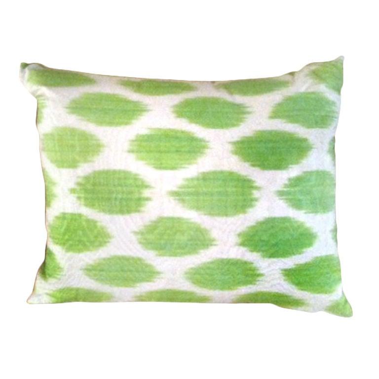 Green Silk Ikat Pillow