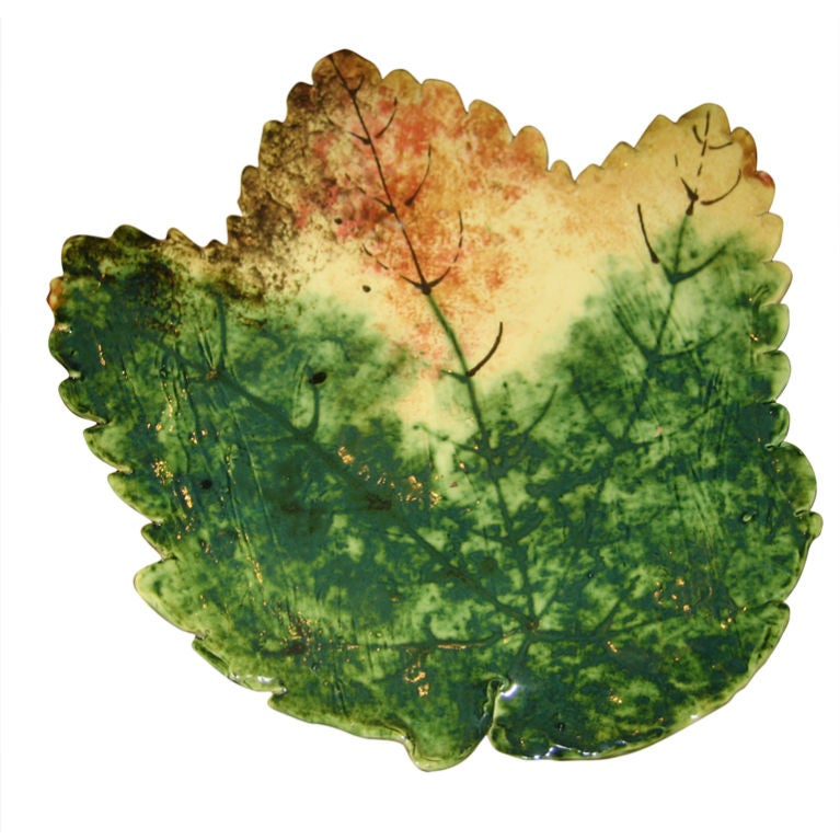 Glazed Ceramic Leaf Plates