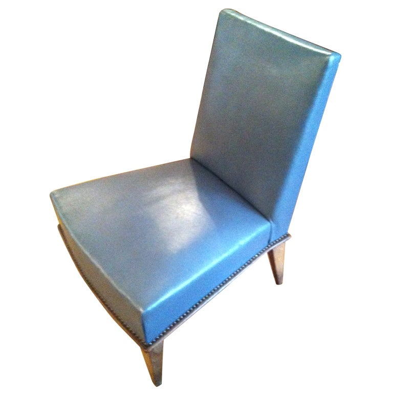 Leather Slipper Chair at 1stdibs
