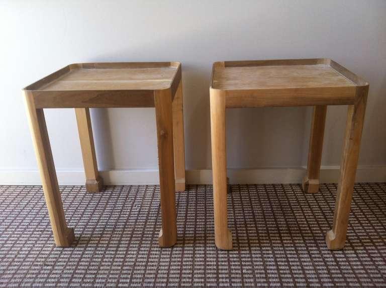 Vintage Wood Side Table 2