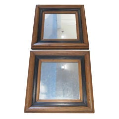Pair of Wood Mirrors