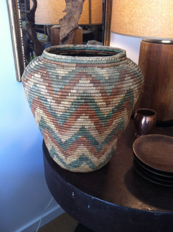 Beautifully woven African basket.