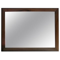 Mirror With Painted Black Frame