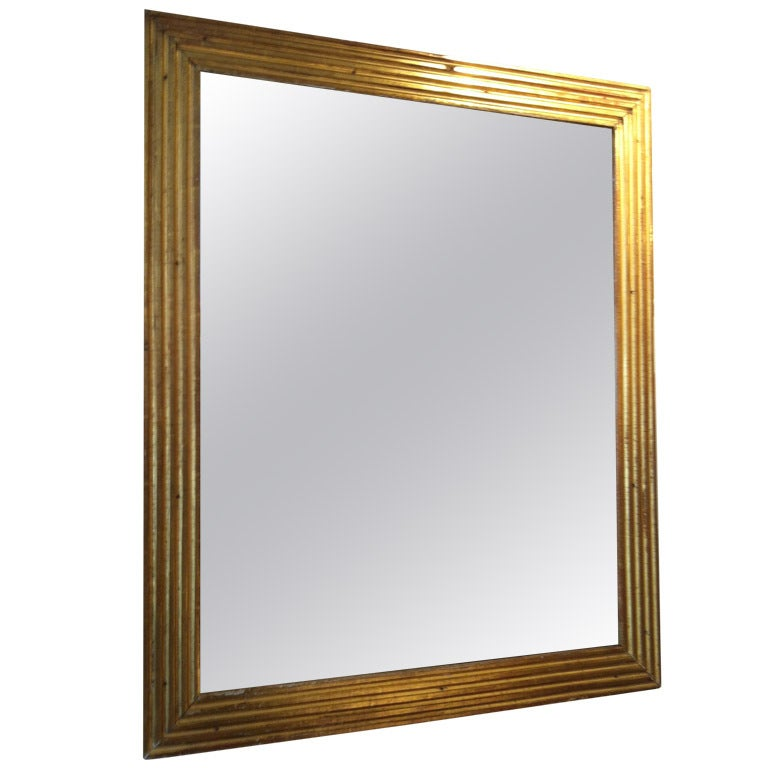 Gold framed mirror at 1stdibs for Gold wall mirror