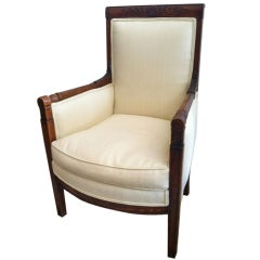 Carved French Walnut Chair